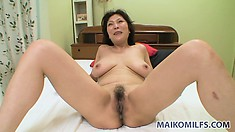 After she rides, and fucks on her back, he deposits a load of cum