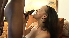 Sensitive hooker Contessa Vivalia gets under delicious sperm rain