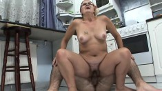 Chubby old grandma still loves to feel some young dick inside her